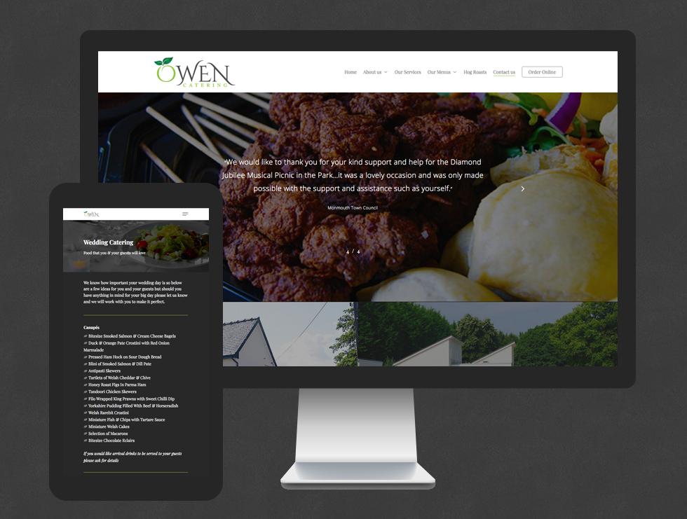 Owen Catering Website