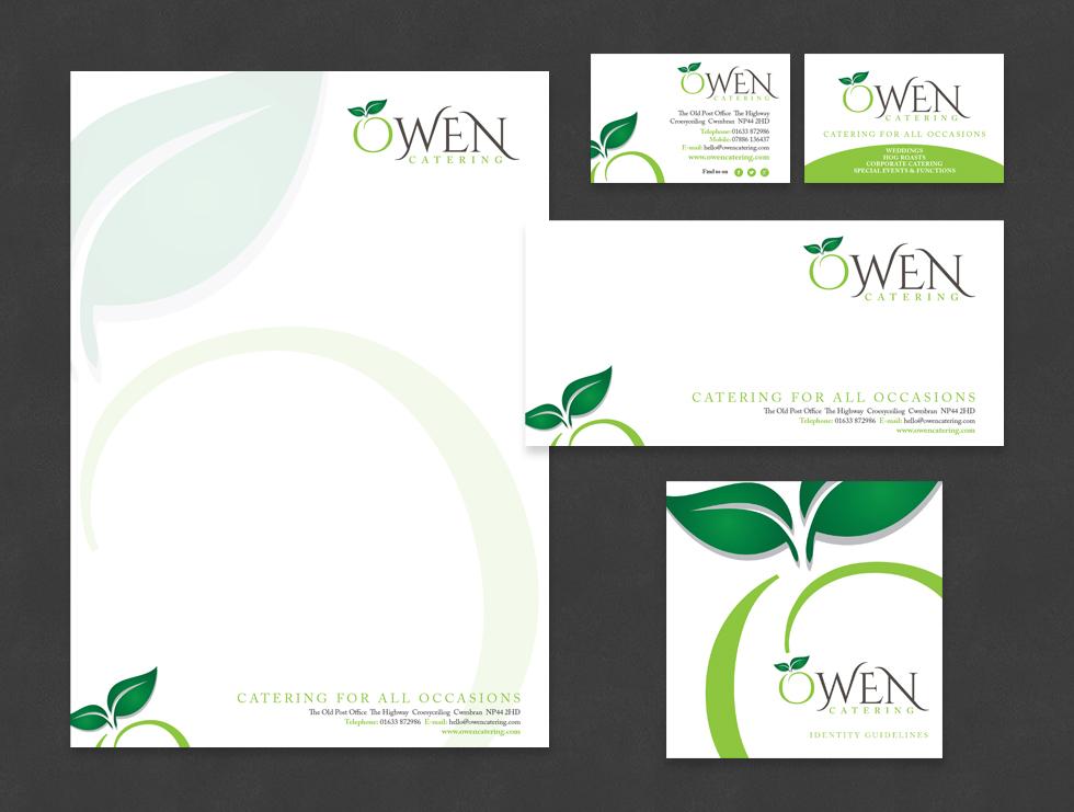 Owen Catering Stationery & Branding