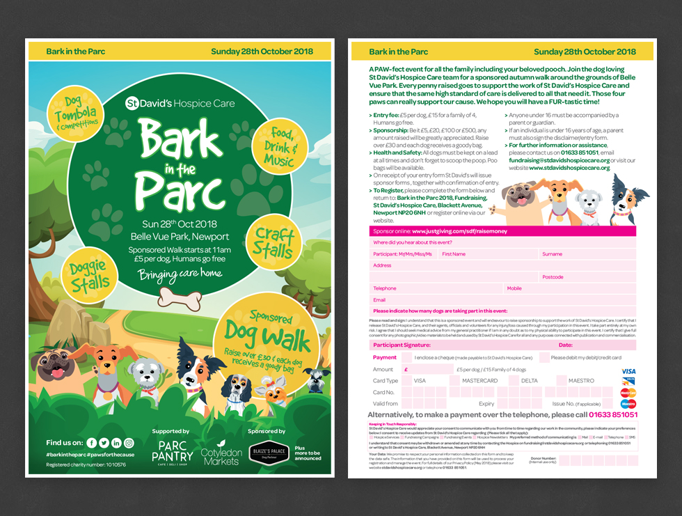 Bark in the Parc Event Leaflet