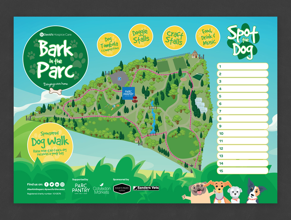 Bark in the Parc Treasure Map