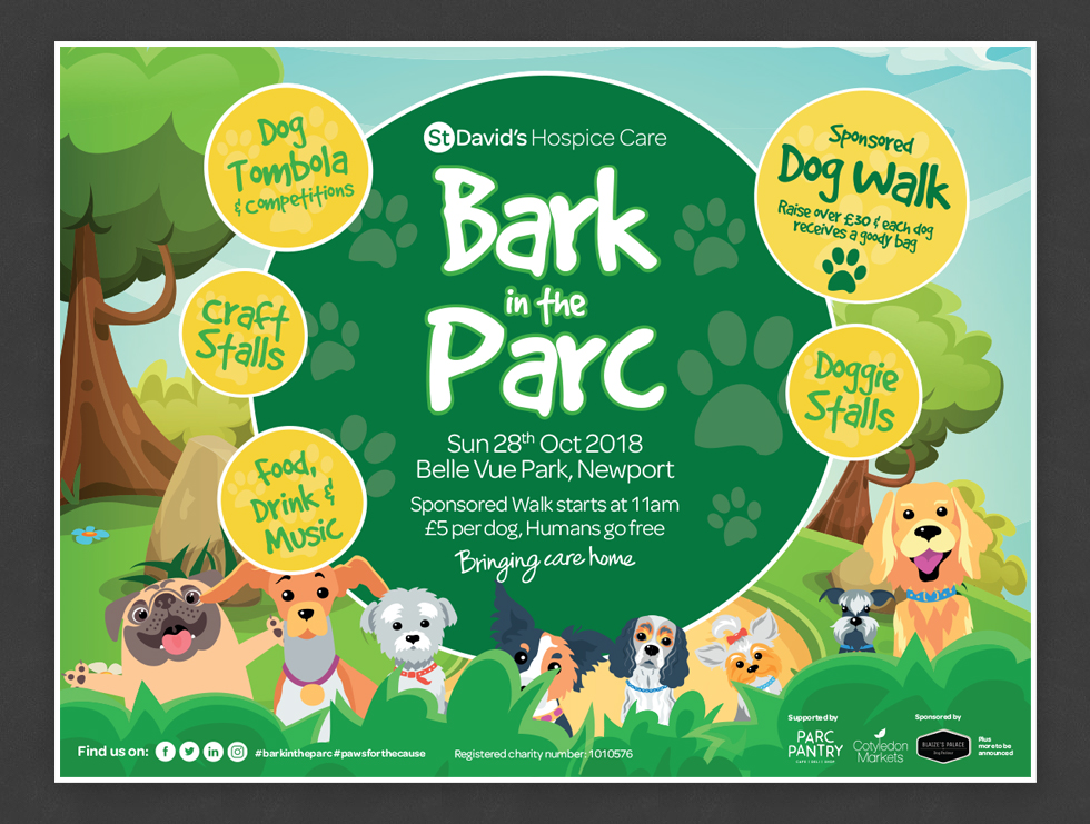 Bark in the Parc Signage