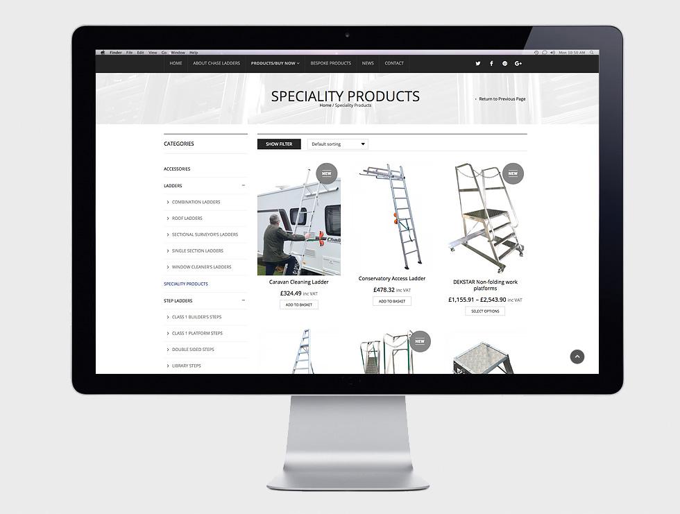 Chase Ladders Website Design