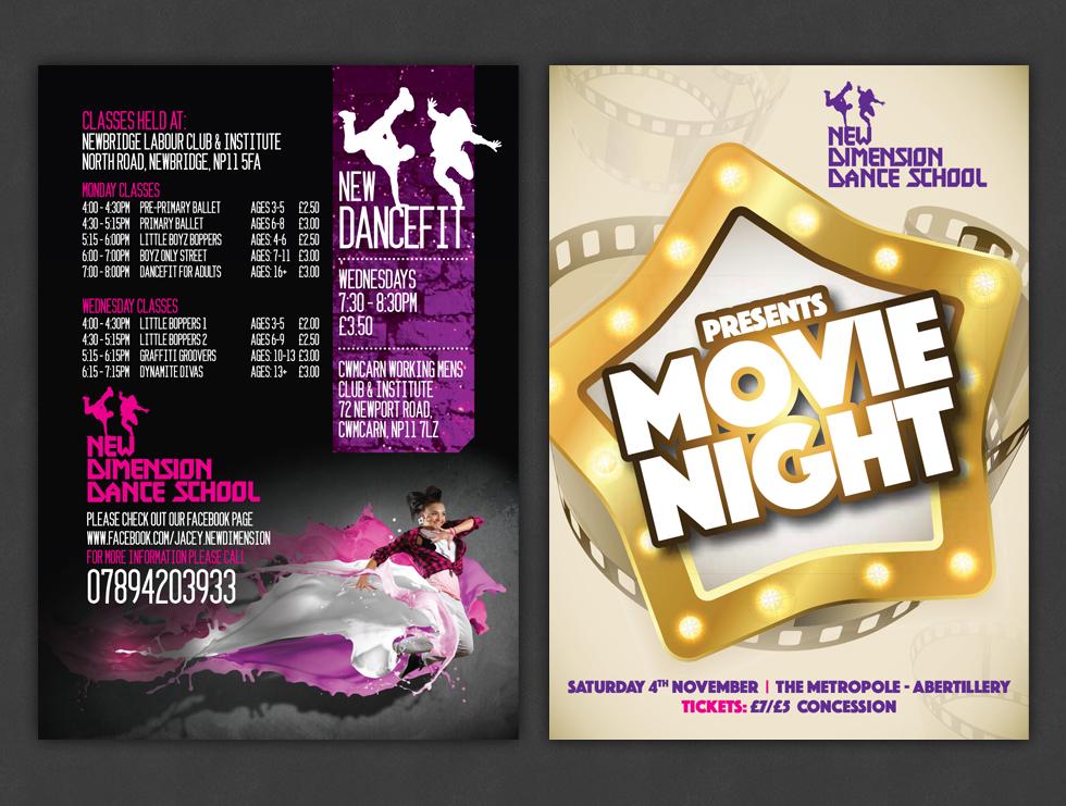 New Dimension Dance School Leaflets & Dance programme
