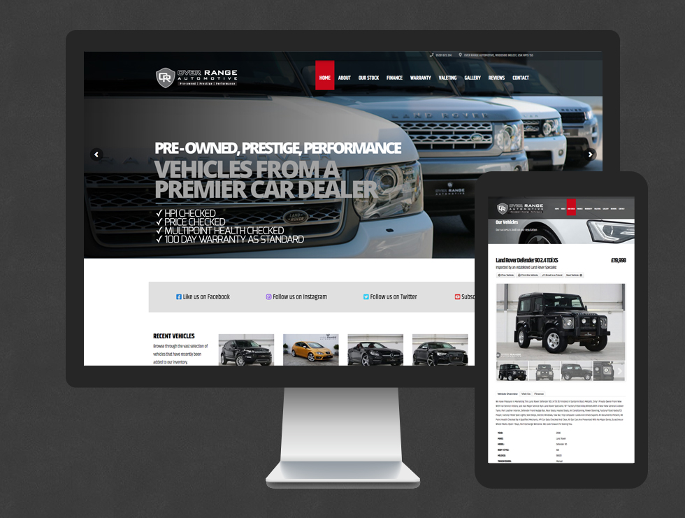 Over Range Automotive Website
