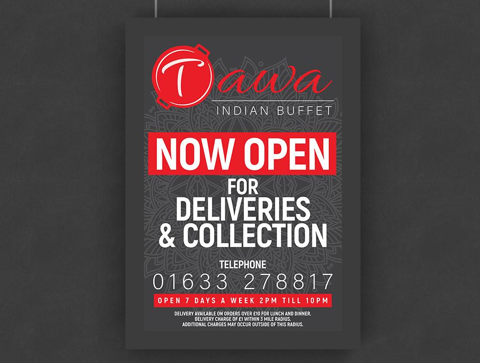 Tawa Indian Buffet TakeawayService Poster Design